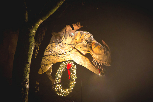See Tyrannosaurus rex and 9 other life-size dinos